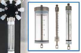 Glass Syringes with PTFE Plungers, CLS-1176-series