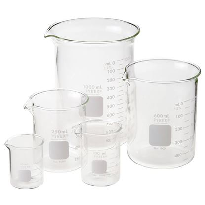 BEAKERS, LOW FORM, GRIFFIN, PYREX®, EACH PACKS