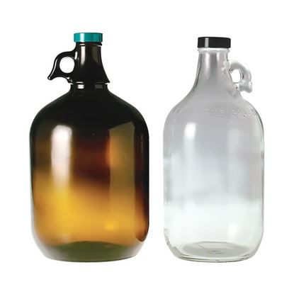 BOTTLES, JUGS, LARGE CAPACITY, CLEAR OR AMBER