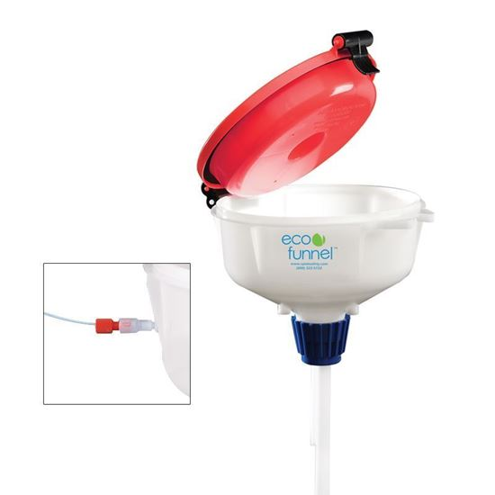 ECO FUNNELS, 8 INCH, HPLC WASTE HOOK ADAPTERS