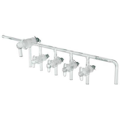 GAS MANIFOLDS, 4-PLACE, GLASS STOPCOCKS