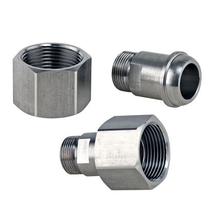 ADAPTERS, M16 X 1 MALE TO M24 X 1.5 FEAMLE THREAD, HUBER CIRCULATOR FITTINGS, STAINLESS STEEL