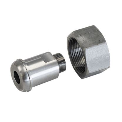 ADAPTERS, M16 X 1 MALE TO M30 X 1.5 FEMALE, HUBER CIRCULATOR FITTINGS, STAINLESS STEEL