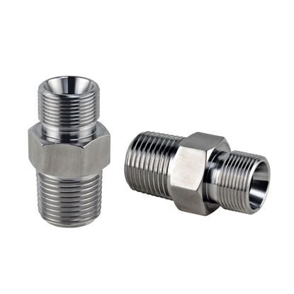 ADAPTERS, M16 X 1 MALE TO 3/8 MNPT FITTING, HUBER CIRCULATOR FITTINGS, STAINLESS STEEL