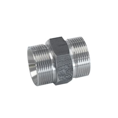 ADAPTERS, STAINLESS STEEL, M30 MALE TO M30 MALE, HEX STYLE, HUBER CIRCULATOR FITTINGS