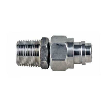 ADAPTERS, M16 X 1 FEMALE TO 3/8 MNPT FITTING, HUBER CIRCULATOR FITTINGS, STAINLESS STEEL