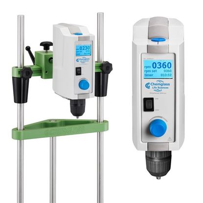 DIGITAL OVERHEAD STIRRERS WITH TIMERS, LCD DISPLAY