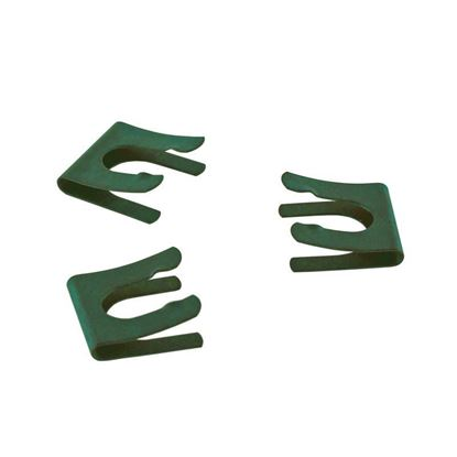 METAL RETAINING CLIPS FOR GLASS STOPCOCK PLUGS