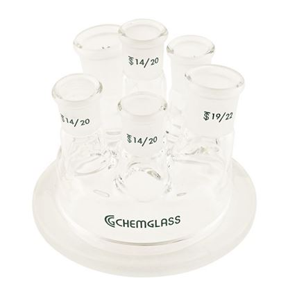 REACTION VESSEL LIDS, 6-NECKS, 250ML, COMPATIBLE WITH METTLER SYSTEMS