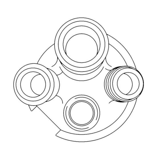 REACTION VESSEL LIDS, 4-NECKS, 50ML, COMPATIBLE WITH METTLER SYSTEMS