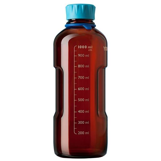LABORATORY BOTTLE SYSTEMS, AMBER GLASS, YOUTILITY, GL-45, DURAN, MEDIA