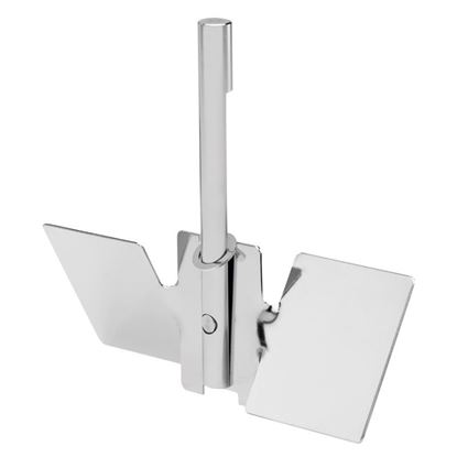 STAINLESS STEEL PITCH BLADE IMPELLER ASSEMBLIES FOR OVERHEAD VERTICAL SIDEARM VESSELS