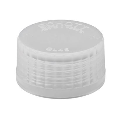 CAPS, SOLID, CLEAR, GL-45 THREADS, TPCH260, PTFE COATED SILICONE SEALS, USP CLASS VI