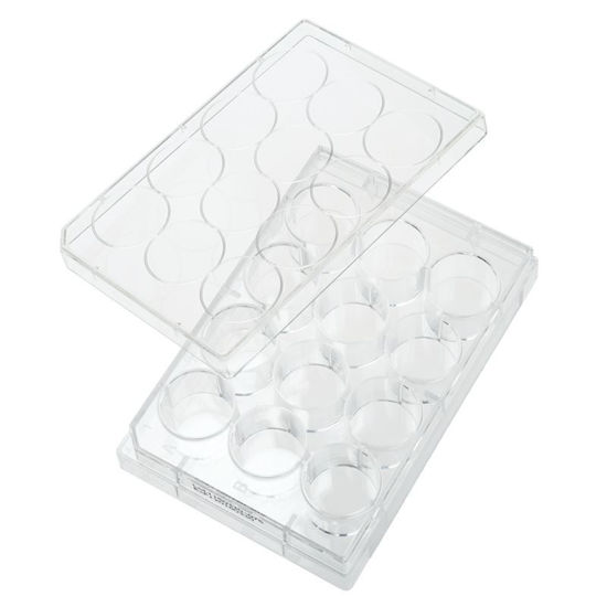 PLATES, NON-TREATED, 12 WELL, FLAT BOTTOM, STERILE, WITH LIDS