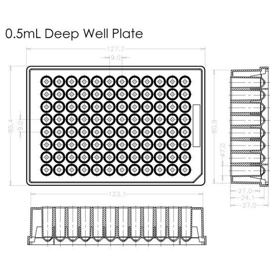MICROPLATES, DEEP, 96-WELLS
