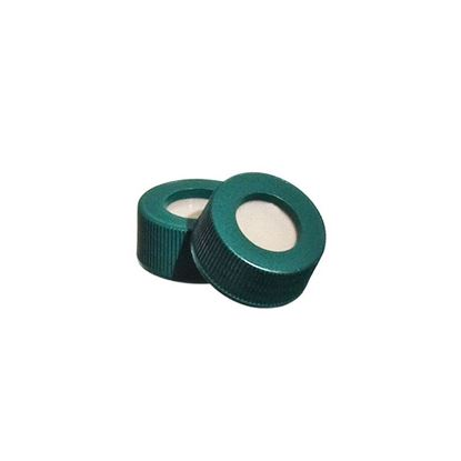 CAPS, OPEN TOP, SURE-LINK, WITH BONDED POLYPROPYLENE/PTFE/SILICONE LINERS