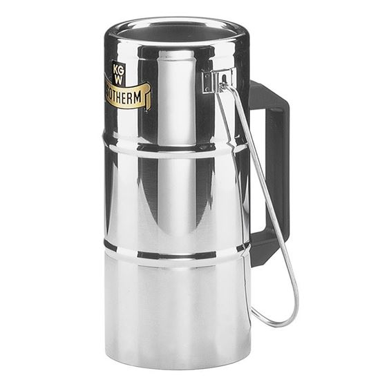 FLASKS, DEWAR, STAINLESS STEEL, SIDE GRIP AND CARRYING HANDLE