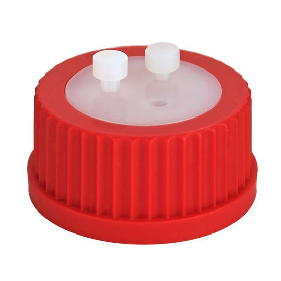 """CG-1158-12; GL-45 CAP ASSEMBLY, RED, 1/8"""""""