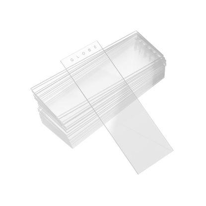 SLIDES, MICROSCOPE, WHITE GLASS, 90 DEGREE GROUND EDGE, 25 X 75MM