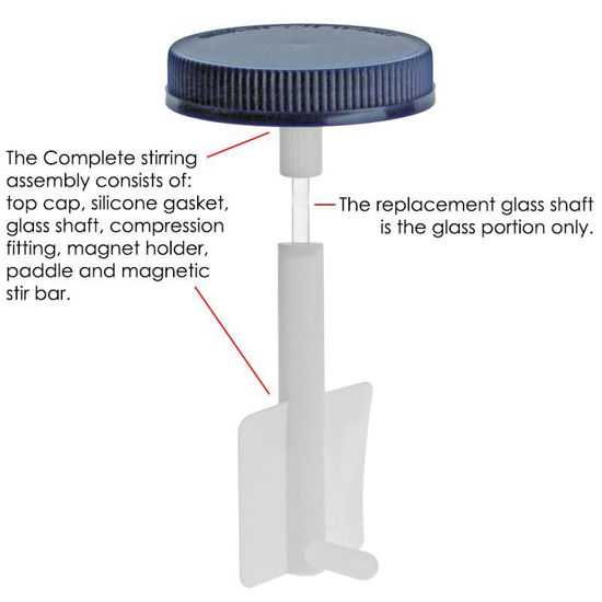 REPLACEMENT PARTS FOR INTERNAL LARGE IMPELLER ASSEMBLY BIOPROCESS SPINNER FLASKS