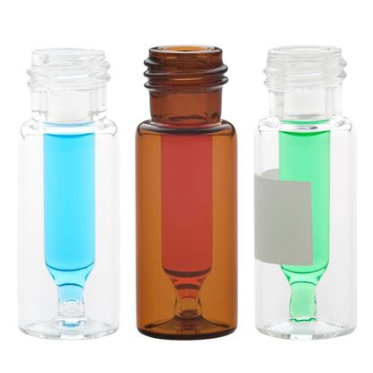 LARGE OPENING RAM VIALS WITH FUSED INSERTS, AMBER VIALS - CLEAR VIALS