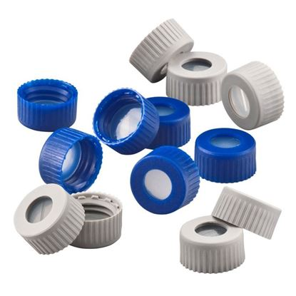 9MM THREAD BONDED CLOSURES, PTFE/SILICONE
