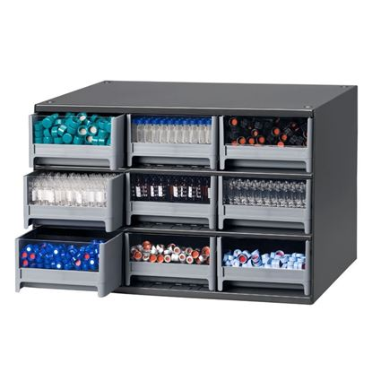 STORAGE CABINETS, VIALS AND CLOSURES