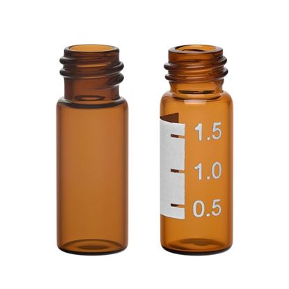 LARGE OPENING SCREW THREAD VIAL, AMBER