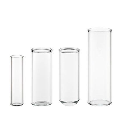 SHELL VIALS, GLASS, CLEAR