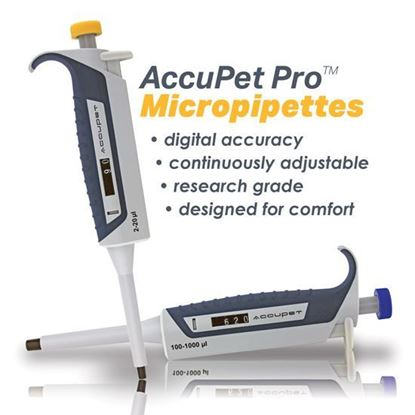 ACCUPET PRO MICRO PIPETTES, SINGLE CHANNEL VARIABLE PIPETTORS, AIR DISPLACEMENT, RESEARCH GRADE