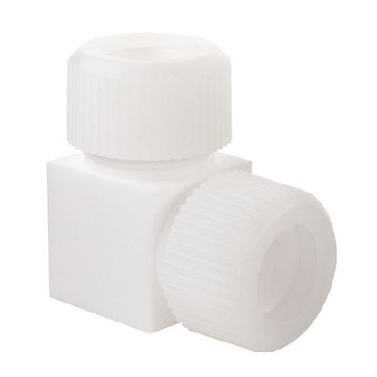 """COMPRESSION FITTINGS, PTFE, 1"""", 90 DEGREE"""