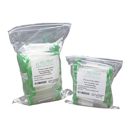 CENTRIFUGE TUBES, RE-SEALABLE BAGS, STERILE