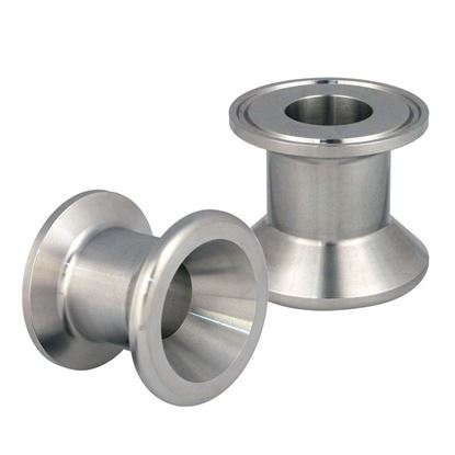 ADAPTERS, SANITARY, 1-1/2 INCH BEADED PIPE, STAINLESS STEEL, TRI-CLAMP