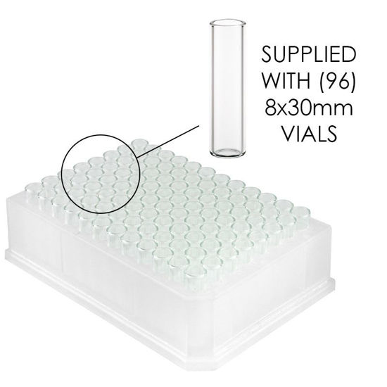 REACTION BLOCK VIAL HOLDERS, 96-WELL, 8X30MM VIALS