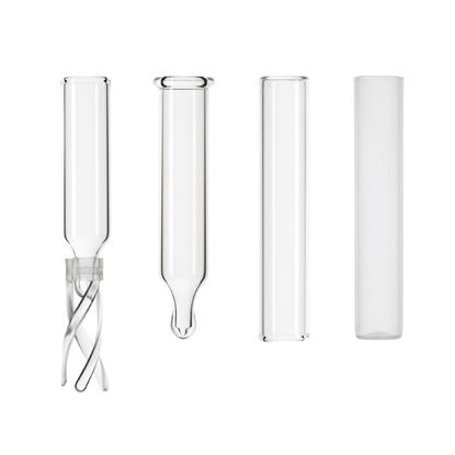 INSERTS FOR LARGE OPENING SCREW THREAD, CRIMP TOP, SNAP SEAL, SNAP RING, AND RAM VIALS