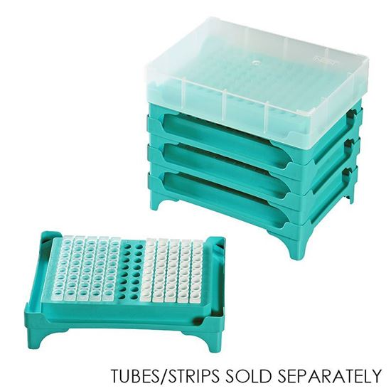 PCR TUBE RACK, 96 WELL, WITH LID/COVER, NEST