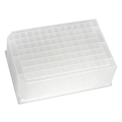 MICROPLATE, 96 WELL, DEEP SQUARE, 44MM HEIGHT, PYRAMID BOTTOM, PORVAIR