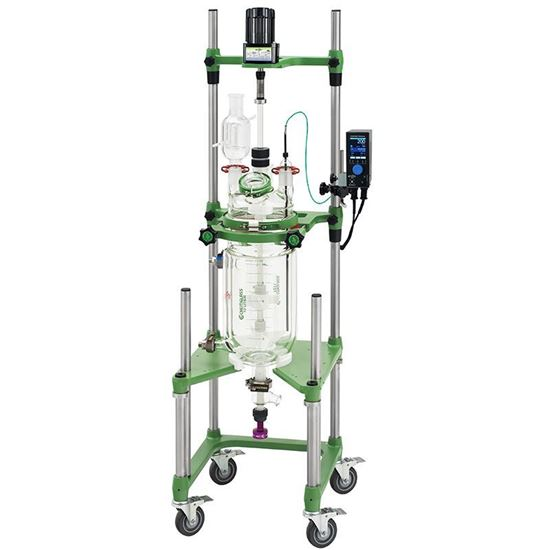 10L PROCESS REACTORS, CYLINDRICAL, JACKETED, ELECTRIC OR AIR MOTOR