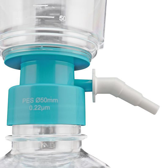 BOTTLE TOP VACUUM FILTER SYSTEM WITH MOLDED GRADUATIONS, STERILE, NEST