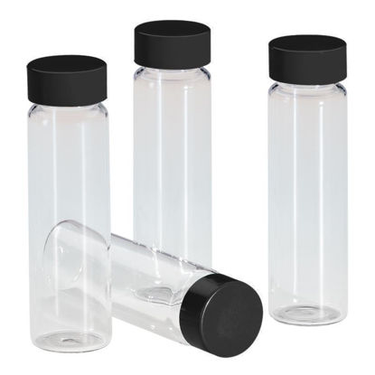 SAMPLE VIALS, CLEAR, PTFE LINED BLACK CAPS, LAB-PAC