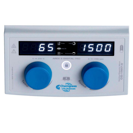 MAGNETIC HOT PLATE STIRRERS, DIGITAL, WITH TIMER AND LOCKING FUNCTION, HOTPLATE, 135mm DIAMETER ROUND TOP