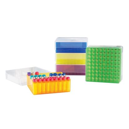 MICROTUBE STORAGE BOX, ASSORTED COLORS, 81-WELL