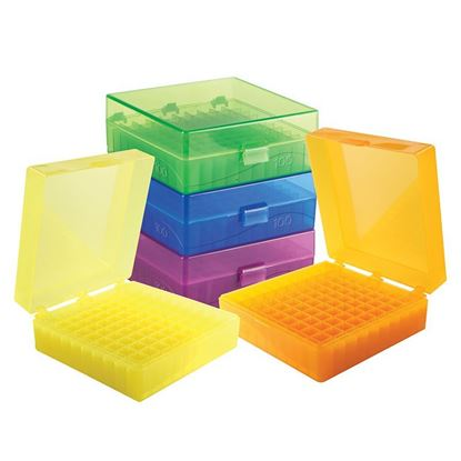 MICROTUBE STORAGE BOX, ASSORTED COLORS, 100-WELL