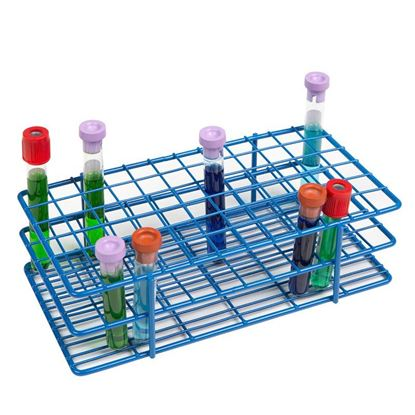 WIRE TUBE RACKS, HDPE COATED, 13MM, 72-PLACE