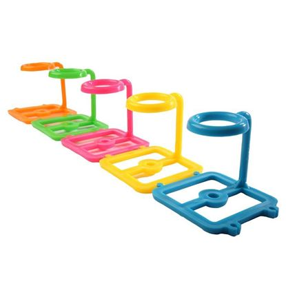 TUBE RACKS, ONE-WELL, CONNECTING, ASSORTED COLORS, POLYPROPYLENE