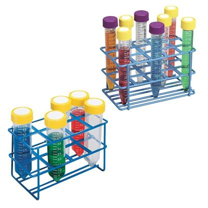 WIRE TUBE RACKS, HDPE COATED, 20MM, 8-PLACE OR 15-PLACE