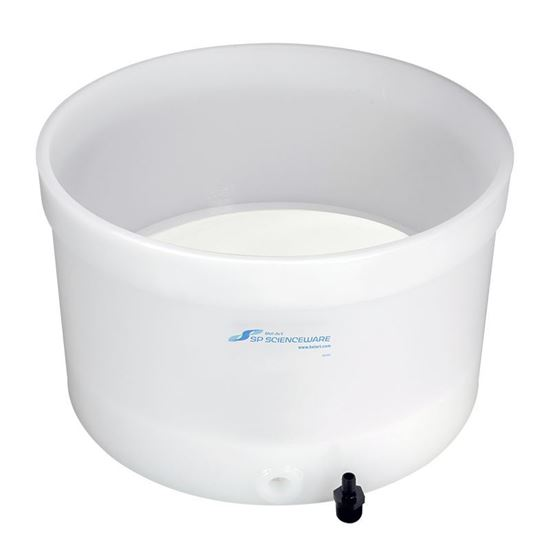 BUCHNER FUNNELS, TABLE TOP, POLYETHYLENE, POROUS, 24 INCH FUNNEL ID, FIXED OR REMOVABLE PLATES
