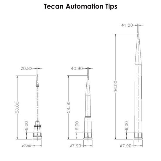 AUTOMATION CONDUCTIVE TIPS FOR TECAN, PRE-STERILIZED